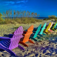 Colorful chairs on Captiva Island! by @KeithBurrows, Statigram