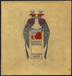 Calendar, Märchen-Kalendar für 1905 [Fairy Tale Calendar], c.1904 illustrated by Heinrich Lefler (Austrian, 1863–1919) and Joseph Urban (Austrian, 1872–1933). Poems by Ludwig Fulda (German, 1862–1939)                                                                                                                                           Published by M. Munk, Vienna