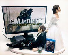 Funny Wedding Cake Topper Custom COD ADV War Video Gamer  Xbox One/PS4