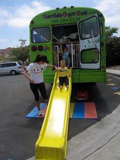 Tobogán on the Tumble Gym Bus