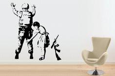 Huge Banksy soldier wall art wall sticker graffiti girl bedroom wall sticker | eBay