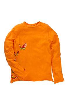 Da-Nang Kids Vintage Print Long Sleeve Butterfly Tee