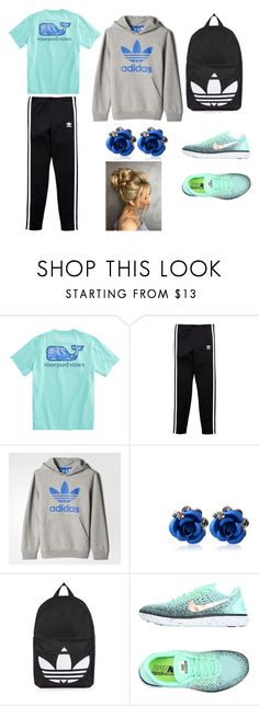 """""""Untitled #14"""" by jinxallison on Polyvore featuring adidas Originals, adidas, Topshop and NIKE"""