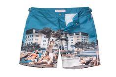 Ocean Drive swimshorts, £195, by Orlebar Brown,24 Sackville Street, Mayfair, London W1 (020 7734 5892; www.orlebarbrown.co.uk)