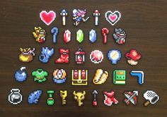 Pick Any 3 Items from Legend of Zelda: Link to the Past | Perler Bead Sprites Collection