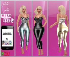 .::f  tiche petite::. Mesh glossy Apple Bottom Pants incl. Texture Hud (9 colors)