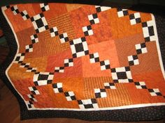 Halloween scrap quilt. love the feel of this.