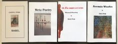 Penn, Cheryl (South Africa) Chapbooks Babel (Where the Babbling Began) A publication of 70 chapbooks by Tonerworks (Reed Altemus)