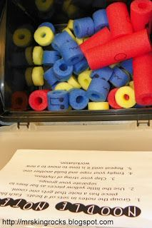 Mrs. King's Music Room: Noodle Notes--great sub activity--borrow jump ropes