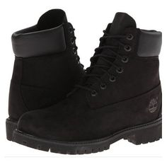 Timberland Classic 6 Premium Boot (Black Nubuck) Men's Lace-up Boots Timberland Classic, Timberland Mens, Timberland Premium, Black Timberland Boots, Buy Boots, Shoe Boots, Ankle Boots, Mens Lace Up Boots, Leather Boots