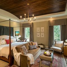 Master Bedroom With Fireplace And King Bed Design, Pictures, Remodel, Decor and Ideas - page 11