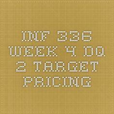 INF 336 Week 4 DQ 2 Target Pricing