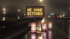 An unknown person found a creative way to express relief that the last section of the Anthony Henday Drive has been finished.
