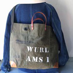 60's US Army vintage canvas remake messenger bag. IND_BNP00129 W54cm H37cm D15cm Shoulder Belt 95cm(Max)