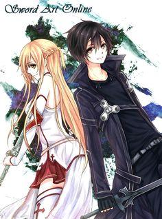 Sword art online Asuna and Kirito