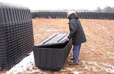 Just like the burial vaults, it's a lot cheaper to store them outdoors than in a warehouse. https://www.metabunk.org/threads/debunked-fema-coffins-plastic-grave-liners.904/