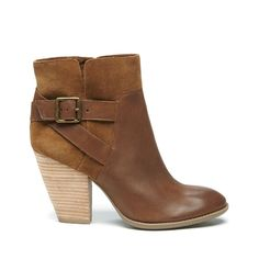 Vintage Cognac Tan Heeled Bootie | Hollie | Free Shipping on Orders $30+
