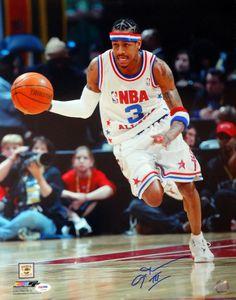 Allen Iverson Autographed 16x20 Photo Philadelphia 76ers PSA/DNA