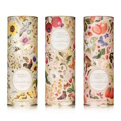 Crabtree & Evelyn Food on Packaging of the World - Creative Package Design Gallery Tea Packaging, Pretty Packaging, Beauty Packaging, Brand Packaging, Design Packaging, Product Packaging, Packaging Ideas, Illustration Inspiration, Biscuits Packaging