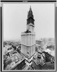 Skyscrapers were possible because of lightweight, strong steel and elevators