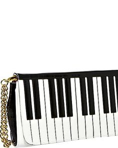 Betsey Johnson - PIANO WRISTLET BLACK-WHITE #bag #purse #fashion