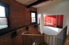 Authentic brickwork on the buildings interior. #WaterTower #Conversion #Architecture