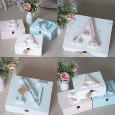 Personalised Baby Keepsake Memory Box Floral Polka Dot Wooden Any Colour Baby Gift Box, Diy Baby Gifts, Baby Box, Baby Crafts, Baby Shower Gifts, Baby Keepsake Boxes, Wooden Keepsake Box, Wooden Memory Box, Personalised Box