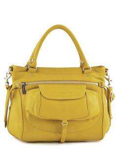 Sac Lancaster jaune Soft vintage nova