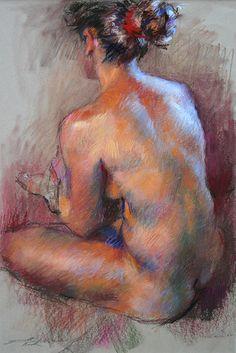 """Sabine by Gwenneth Barth-White Pastel ~ 18"""" x 14"""""""