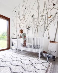 Another magic kids room to adore ? We love the styling including our Pattern Jay wallpaper by Scandinavian Surface. Nursery Themes, Nursery Room, Nursery Decor, Wallpaper Decor, Custom Wallpaper, Ideas Habitaciones, Magic For Kids, Create Your Own Wallpaper, Nursery Inspiration