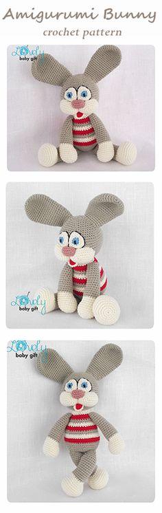Crochet Pattern - Amigurumi bunny, striped bunny, rabbit https://www.etsy.com/listing/123688309/amigurumi-pattern-crochet-amigurumi-toy?ref=shop_home_active_7