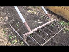 This is a cool manual tiller! It's a modified broadfork! - YouTube