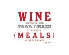 Wine and Food Chain Julia Child Quote