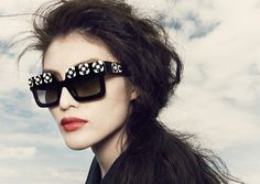 Prim florals get bold structure in the Prada Poeme collection