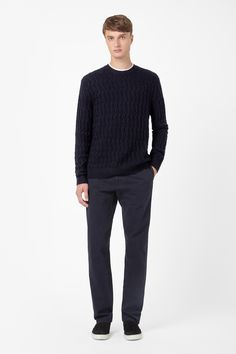 Structured knit jumper