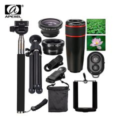 Buy Phone Camera Lens Lenses Fish Eye Fisheye Lentes Wide Macro Lenses Selfie Stick Monopod Tripod for Xiaomi iPhone Lens Iphone Accessories, Camera Accessories, Mobile Lens, Iphone Camera Lens, Bluetooth Remote, Iphone Photography, Photography Tips, Selfie Stick, Living At Home