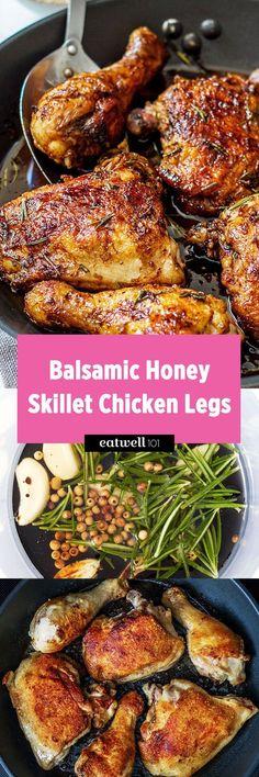 Balsamic Honey Skillet Chicken Legs Recipe — Eatwell101