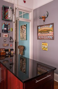 sw 6018 enigma Brian & Emily's Art-Filled New Orleans Home