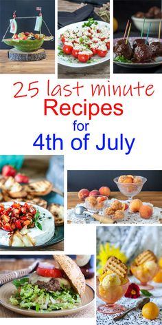Need some last minute inspiration for the 4th of July? Here are 24 EASY recipes to help you out on the 4th of July! #easyrecipes #recipes #july4th #4thofjuly #salads #desserts #burgers #appetizers