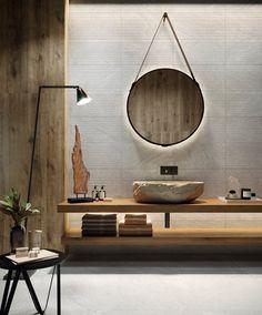 Home Design, Floor Design, Wall And Floor Tiles, Wall Tiles, Ceramic Tile Bathrooms, Ceramic Houses, Trends, Indoor, Mirror