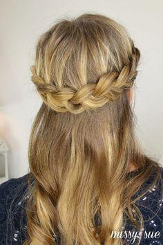 Best Ideas HairStyles : Half Up Crown Braid https://greatmag.net/beauty/hair-style/best-ideas-hairstyles-half-up-crown-braid/