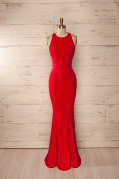 Beautiful Prom Dress, red fitted halter maxi dress red prom dress sexy prom dress backless evening dress formal dress for woman Meet Dresses Simple Prom Dress, Elegant Prom Dresses, Backless Prom Dresses, Formal Dresses For Women, Mermaid Prom Dresses, Trendy Dresses, Sexy Dresses, Dress Formal, Dress Prom