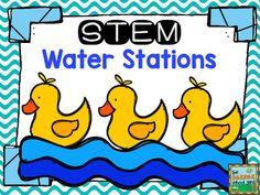 """STEM Water Stations will help your students add some fun hands-on activities to enhance your water unit...from FOSS to NGSS. These three activities will challenge your students and provide the perfect engineering fun for any classroom! You will be saying """"Water"""" you know...this pack is great!The three stations include:1."""