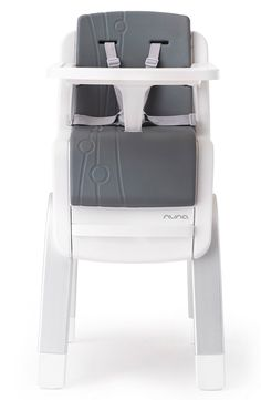 A fully adjustable highchair that's designed to grow with little one thanks to a hidden lift mechanism, foam cushioning and a removable tray and arm bar. Also love that the clean, classic lines will complement practically any décor.