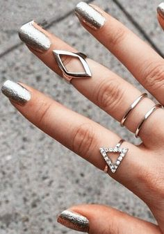 Be bold with your accessory choices this spring! Silver midi rings are a great way to add a little something extra to any outfit.