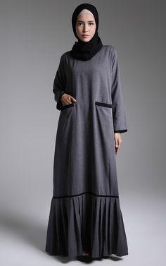 Abaya - ZUBEDI by Vivi Zubedi - Jalaya Abaya For IFW Islamic Fashion, Muslim Fashion, Modest Fashion, Fashion Dresses, Hijab Style, Hijab Chic, Hijab Dress, Hijab Outfit, Muslim Long Dress