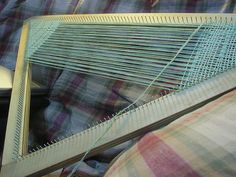 Triangle or Tri-loom. I built 2 of these looms.