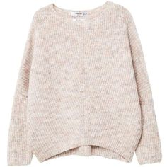 Dolman-Sleeve Sweater ($53) ❤ liked on Polyvore featuring tops, sweaters, pink top, pink sweater, knit sweater, dolman-sleeve sweaters and over sized sweaters