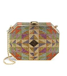 Judith Leiber Crystal Hexagonal Rectangle Clutch - ShopBAZAAR