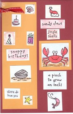 Crab & Company Index Card by galleryindex - Cards and Paper Crafts at Splitcoaststampers